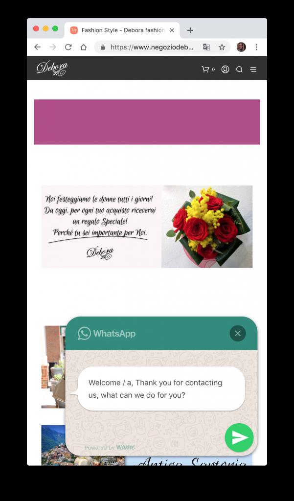 WhatsApp and WordPress for e-commerce