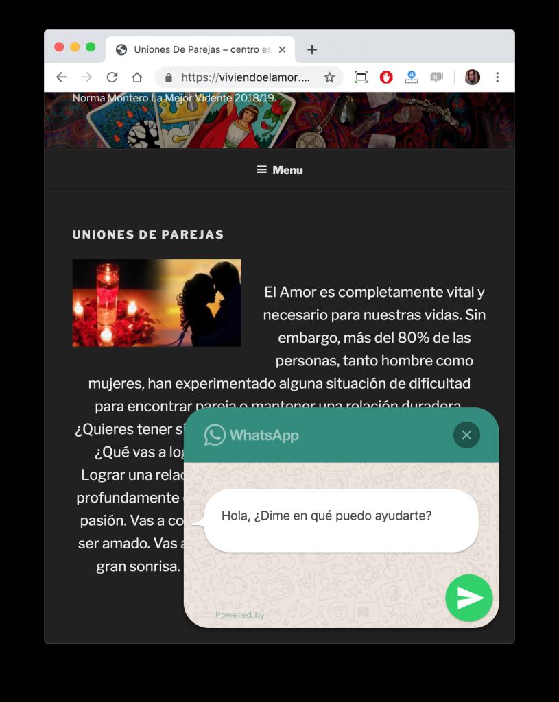 https://viviendoelamor.com/ Tarot WhatsApp