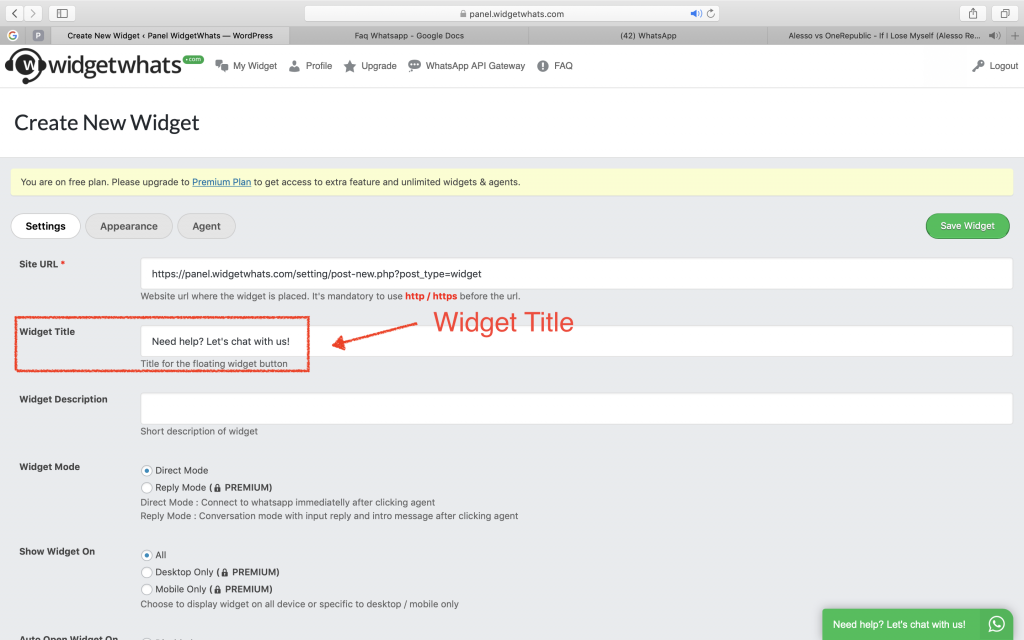 Whatsapp embed Code   WAme chat